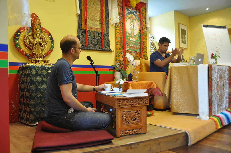 Pargang Rinpoche und Arne Schelling