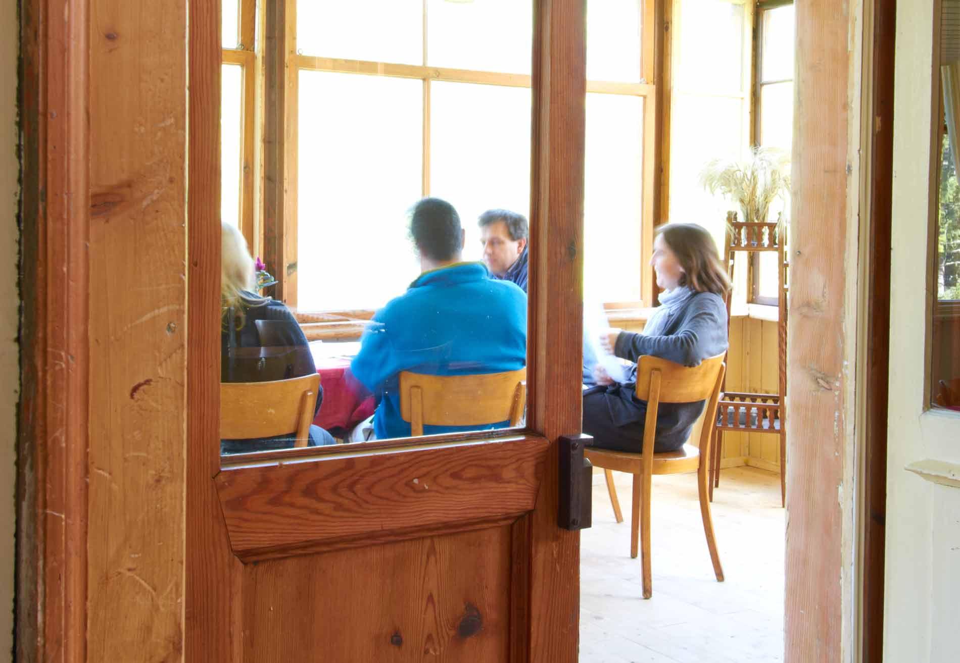 Meeting in der Veranda